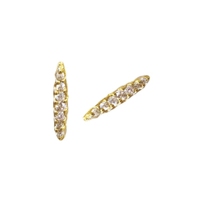 MINI DREAM STARDUST STUDS - CUBIC ZIRCONIA & GOLD - SO PRETTY CARA COTTER