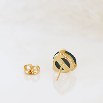 MINI FEARLESS STUDS - BLACK ONYX & GOLD - SO PRETTY CARA COTTER