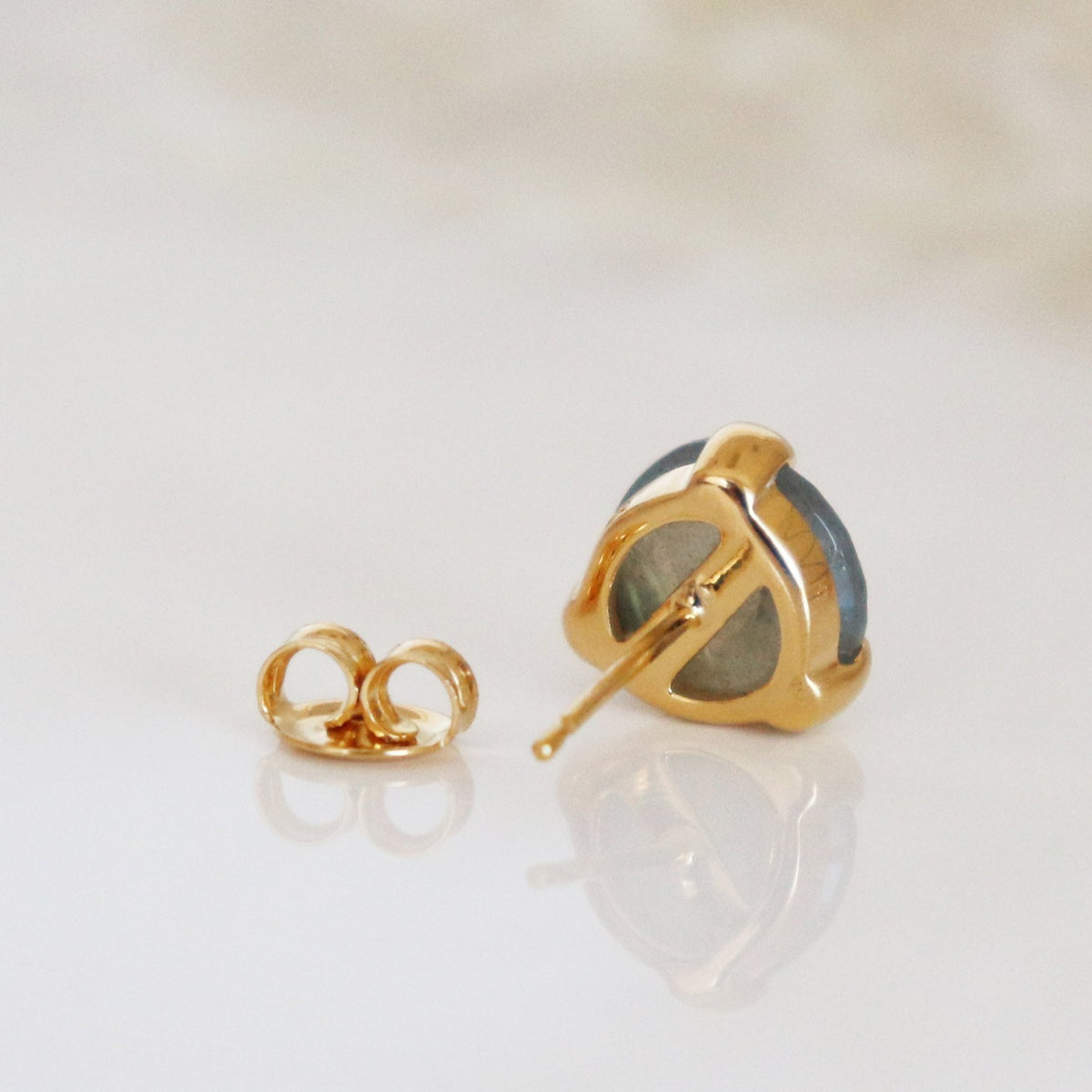 MINI FEARLESS STUDS - LABRADORITE & GOLD - SO PRETTY CARA COTTER