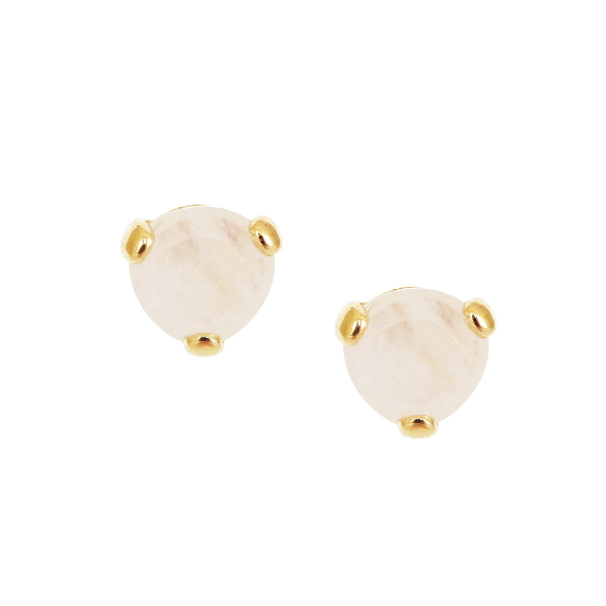 MINI FEARLESS STUDS - RAINBOW MOONSTONE & GOLD - SO PRETTY CARA COTTER