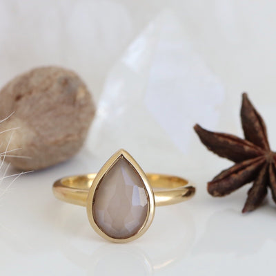 MINI HARMONY RING - CHAI MOONSTONE & GOLD- LIMITED EDITION - SO PRETTY CARA COTTER