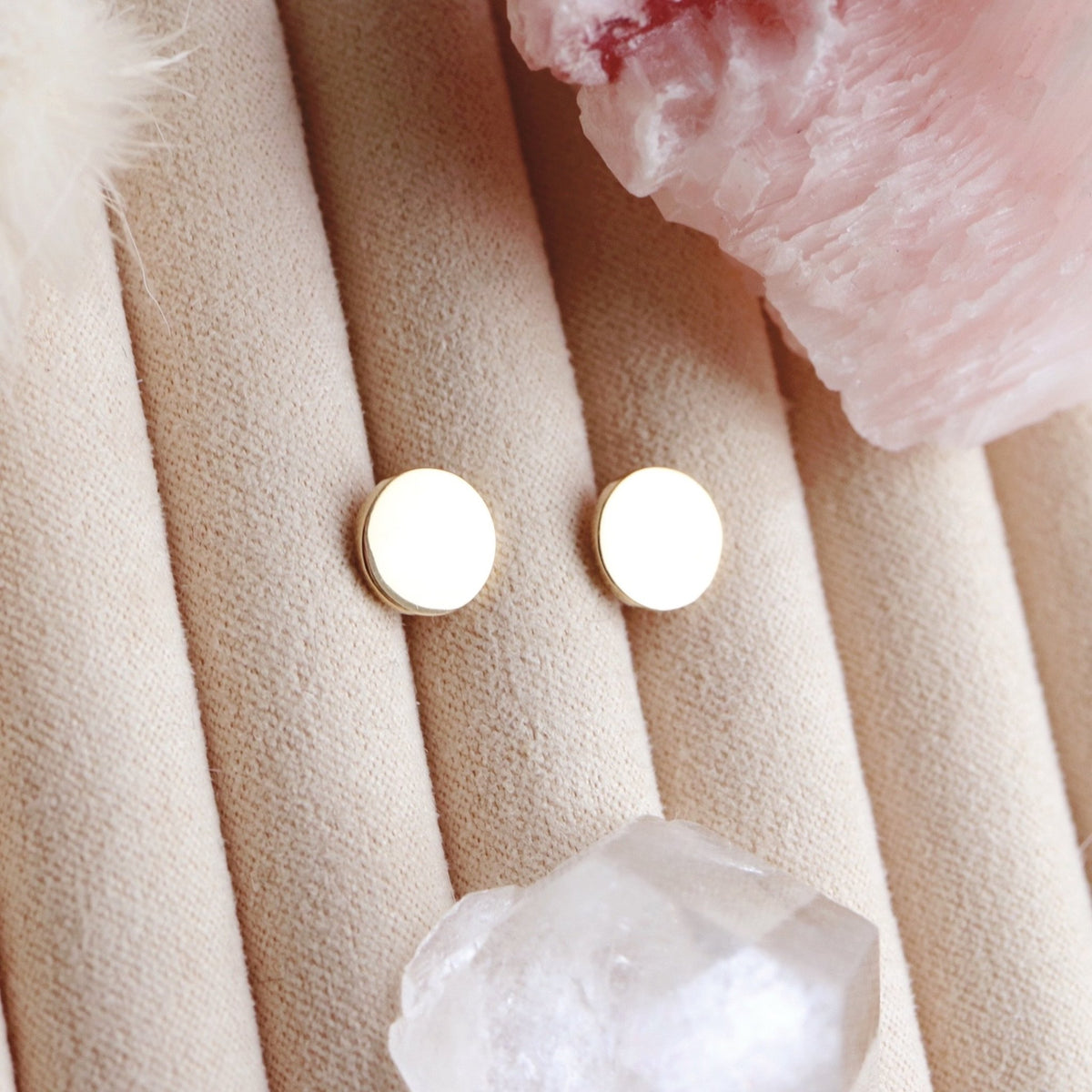 MINI POISE CIRCLE STUDS - GOLD - SO PRETTY CARA COTTER