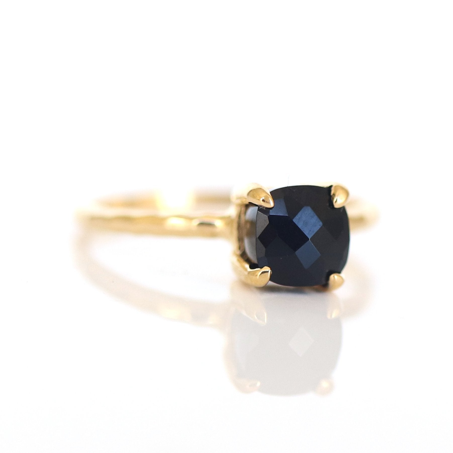MINI PROTECT RING BLACK ONYX & GOLD - SO PRETTY CARA COTTER