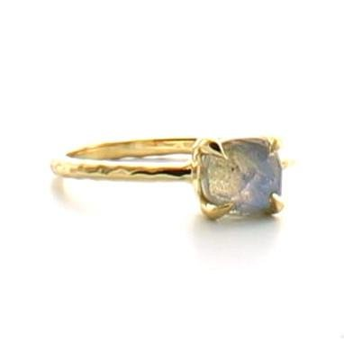MINI PROTECT RING LABRADORITE & GOLD - SO PRETTY CARA COTTER