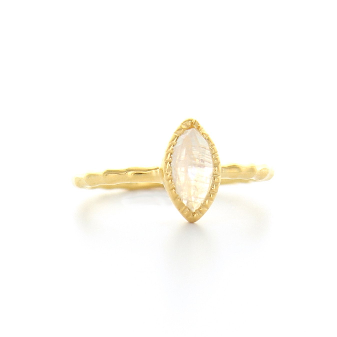 MINI TRUST MARQUISE RING - MOONSTONE & GOLD - SO PRETTY CARA COTTER