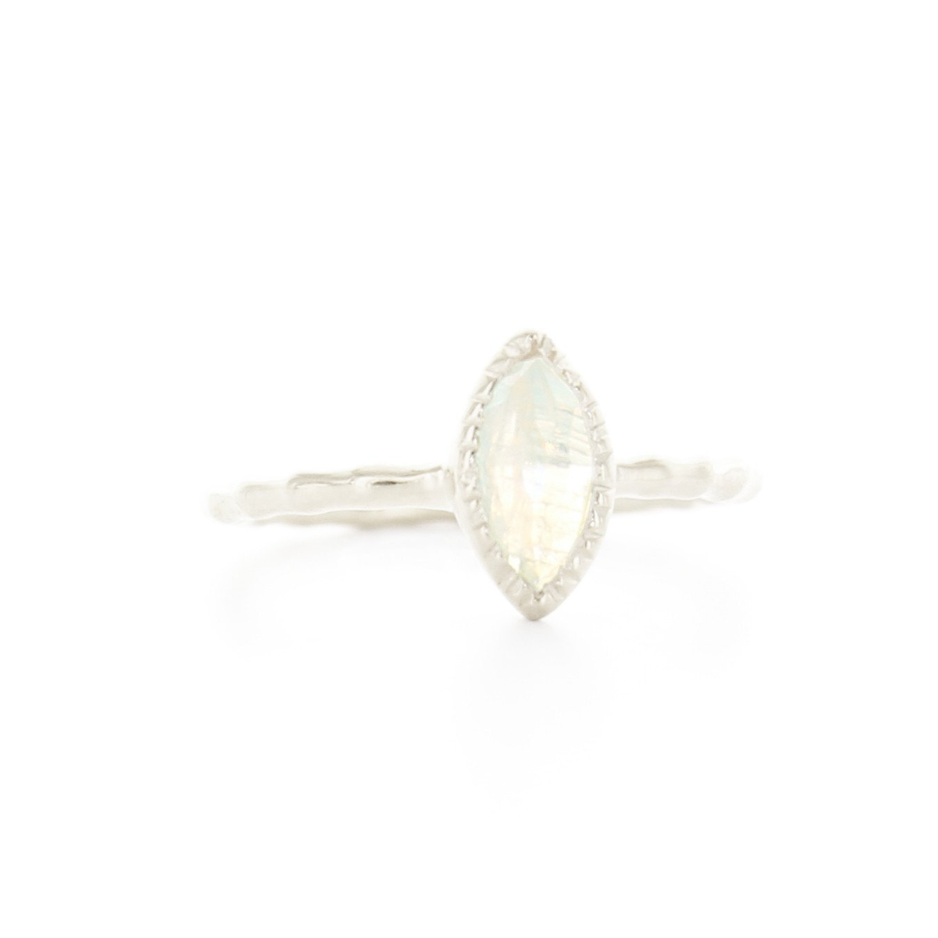MINI TRUST MARQUISE RING - MOONSTONE & SILVER - SO PRETTY CARA COTTER