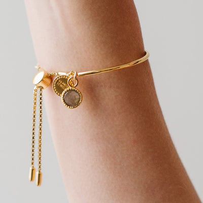 POISE ADJUSTABLE BRACELET - GOLD - SO PRETTY CARA COTTER