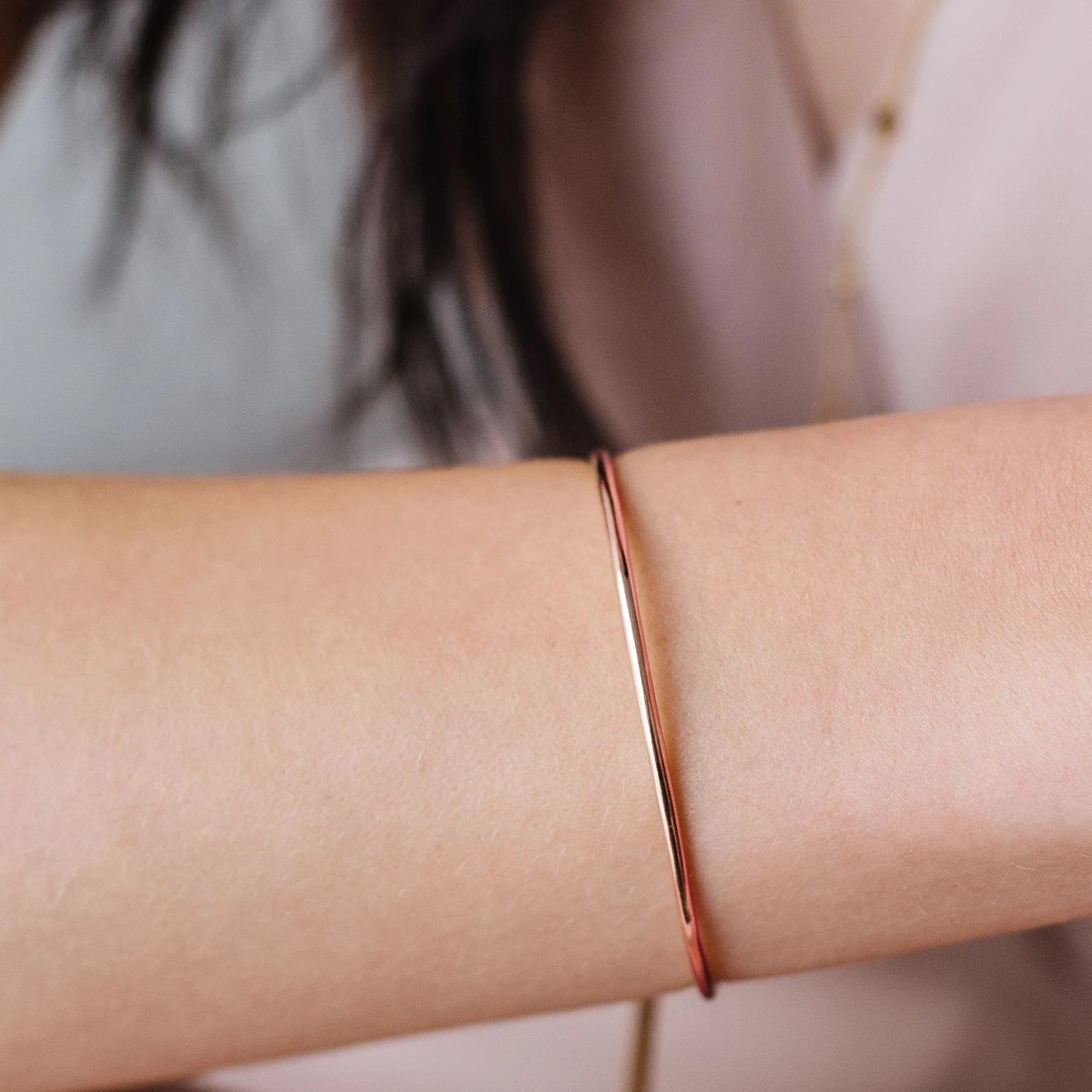 POISE ADJUSTABLE BRACELET - ROSE GOLD - SO PRETTY CARA COTTER