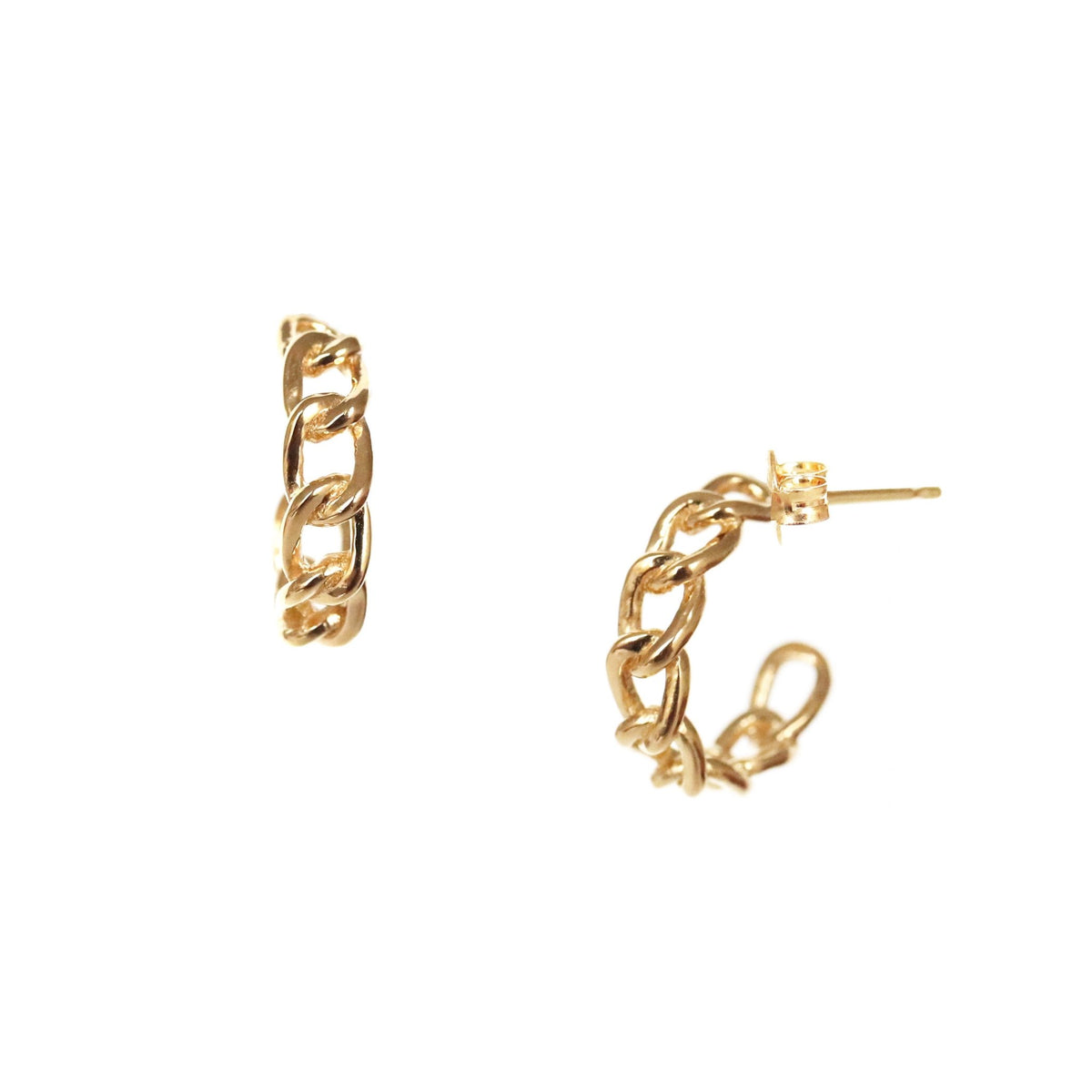 POISE CABLE LINK HUGGIE HOOPS - GOLD - SO PRETTY CARA COTTER