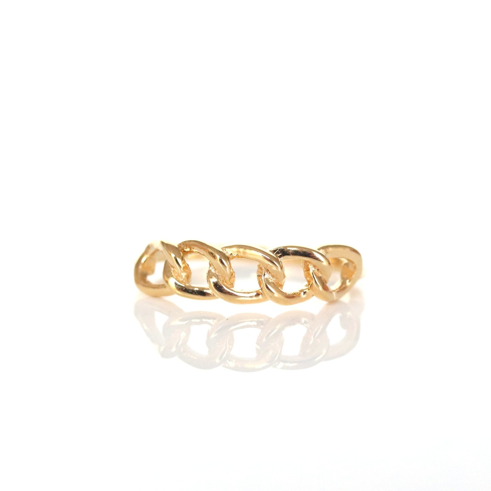 POISE CABLE LINK RING - GOLD - SO PRETTY CARA COTTER