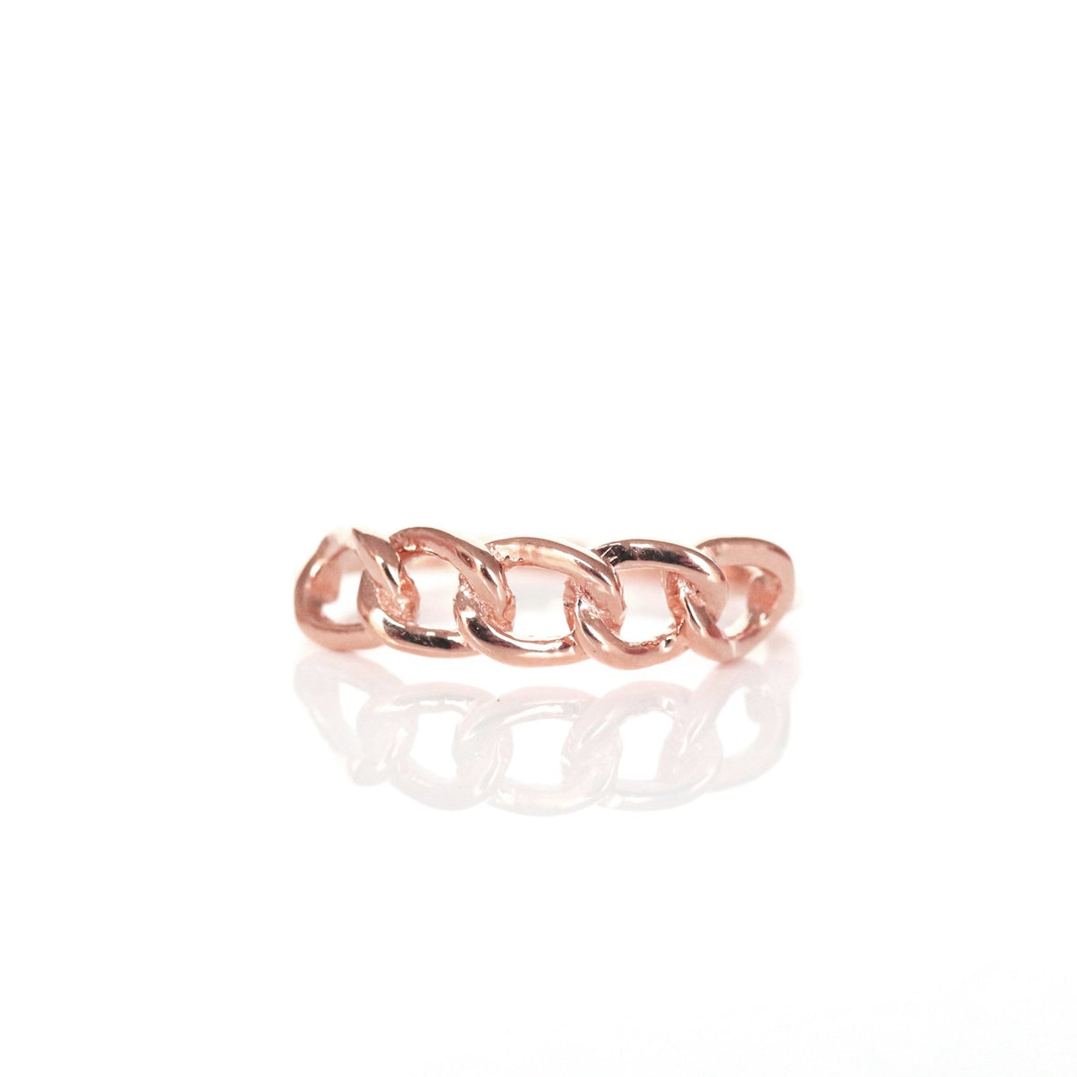 POISE CABLE LINK RING - ROSE GOLD - SO PRETTY CARA COTTER