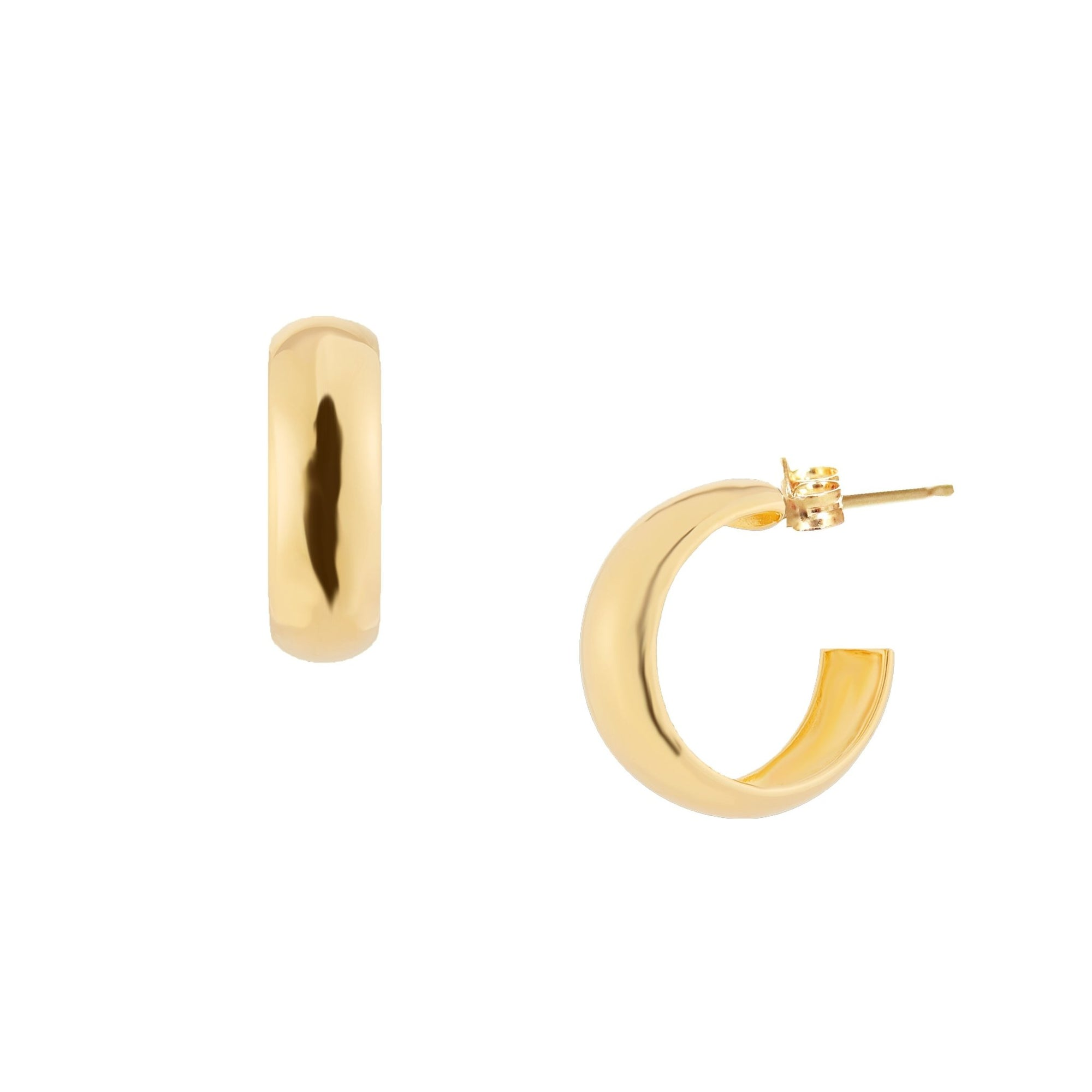 POISE HUGGIE HOOPS - GOLD - SO PRETTY CARA COTTER
