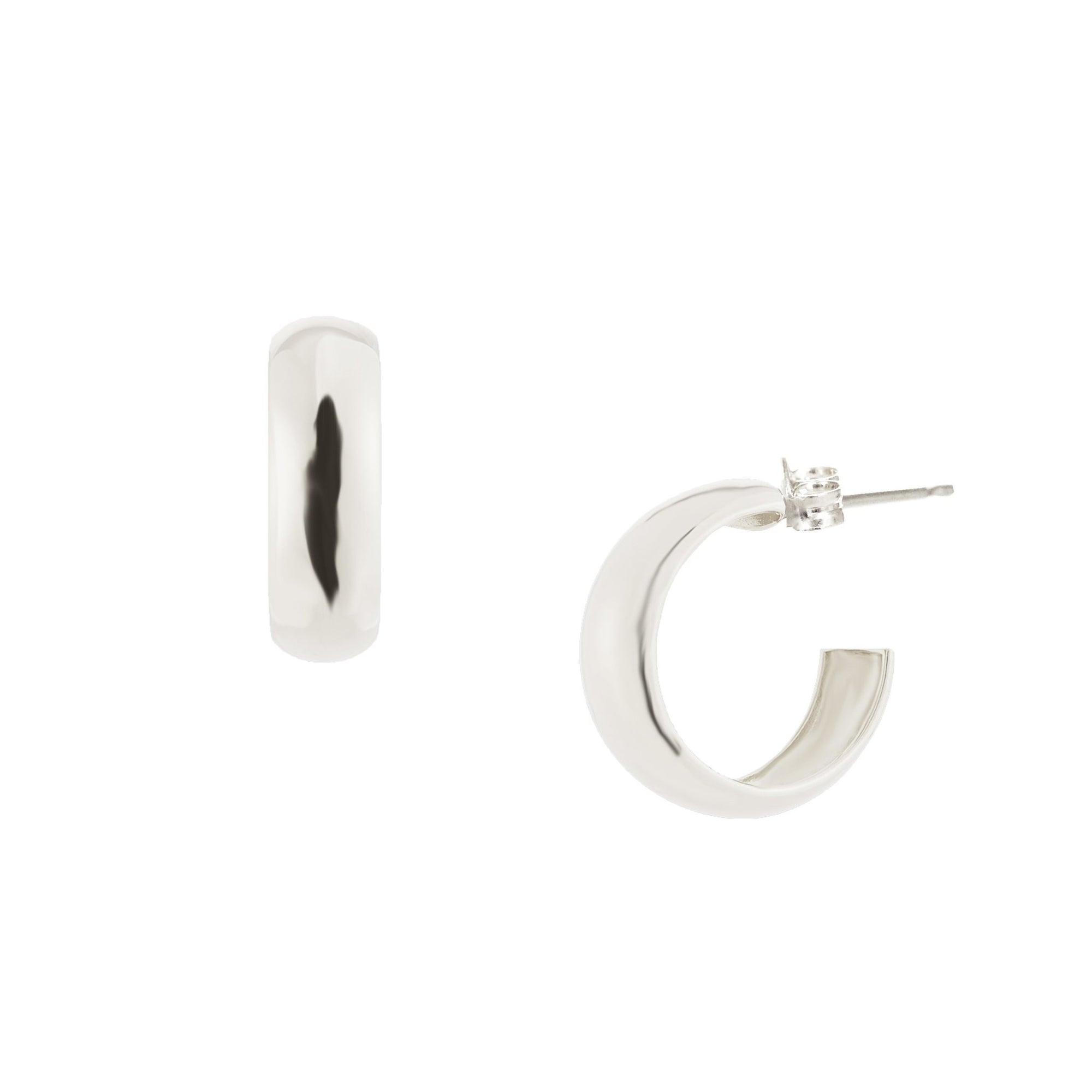 POISE HUGGIE HOOPS - SILVER - SO PRETTY CARA COTTER