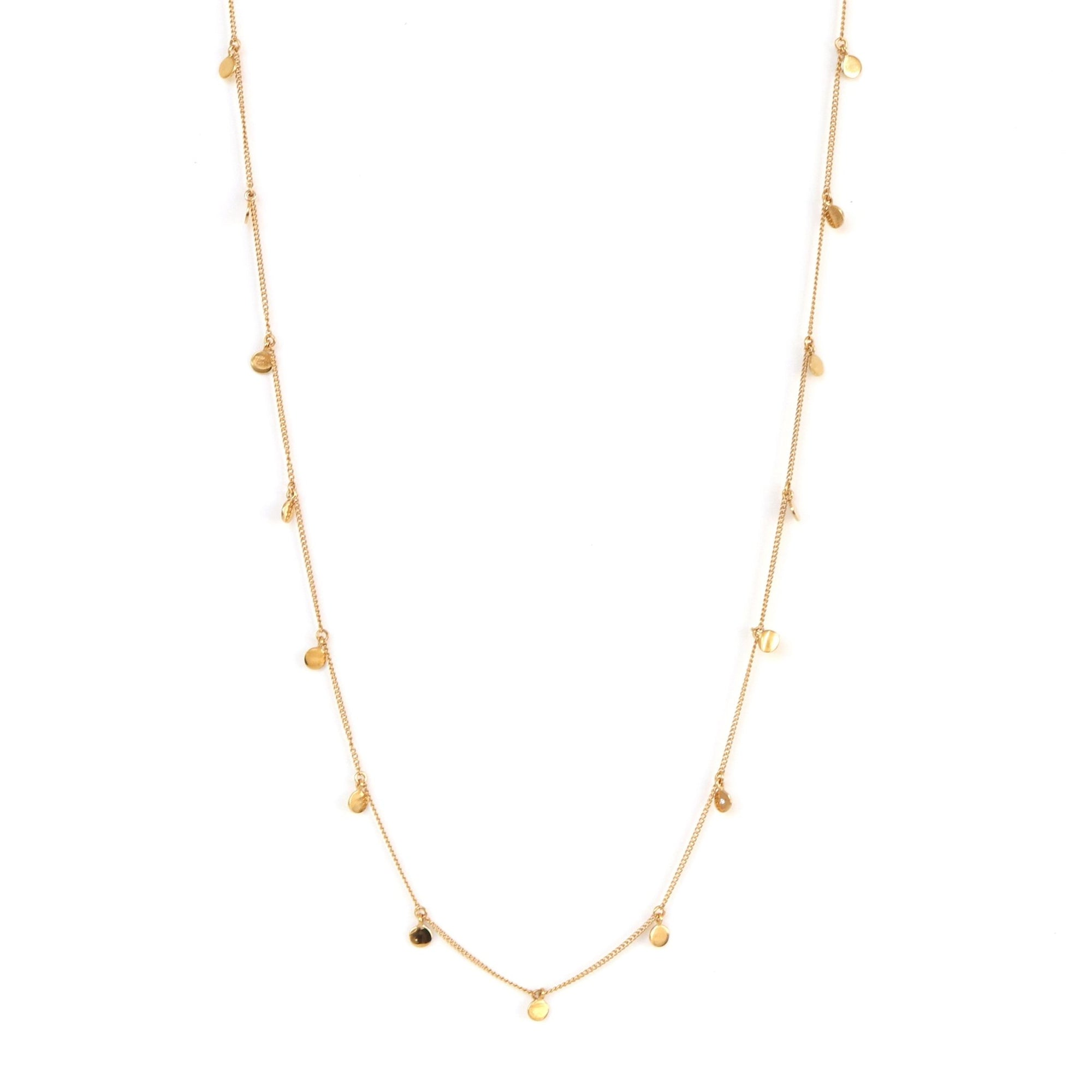 POISE LONG DISK NECKLACE - GOLD - SO PRETTY CARA COTTER