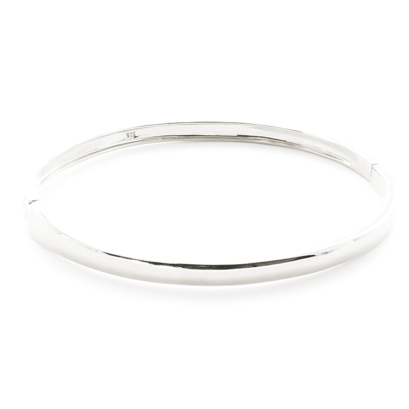 Poise Oval Bangle - Silver - SO PRETTY CARA COTTER