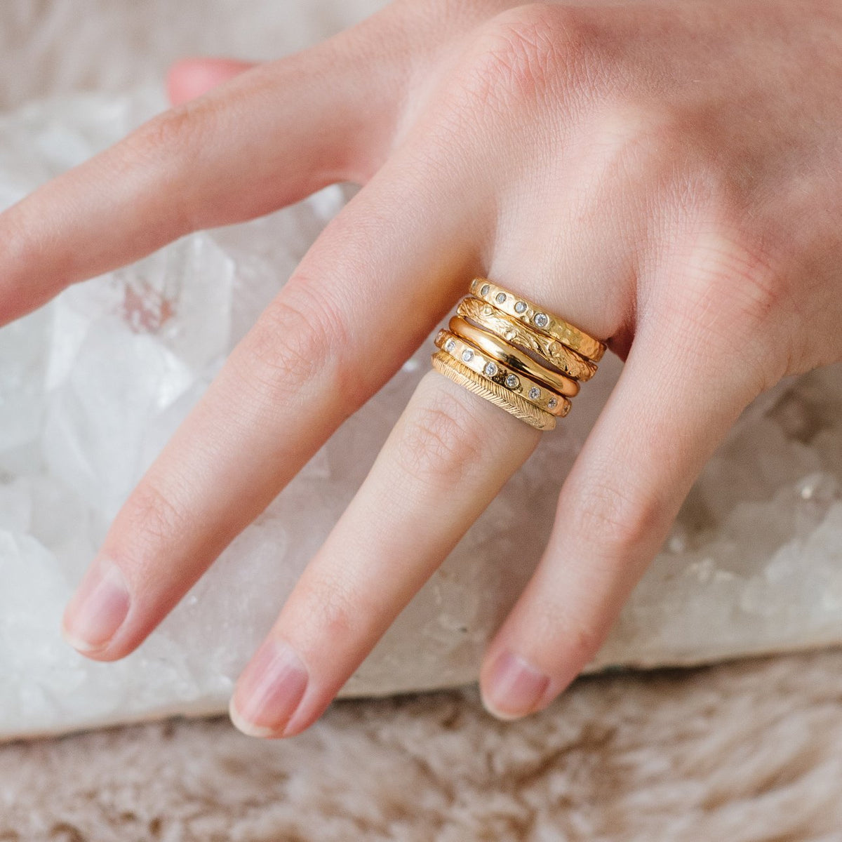POISE STACKING RING & PENDANT GOLD - SO PRETTY CARA COTTER