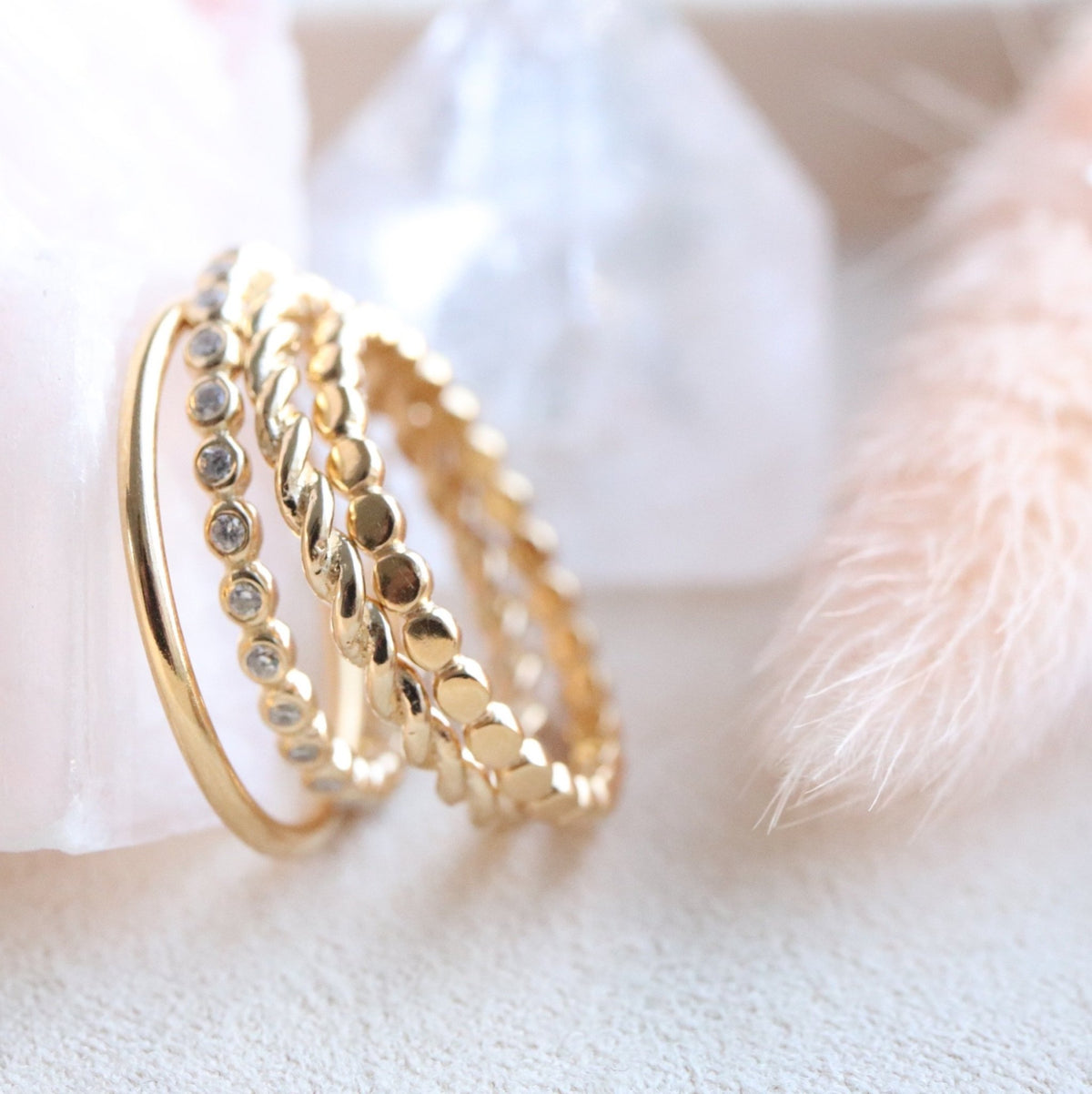 POISE THIN BAND RING - GOLD - SO PRETTY CARA COTTER