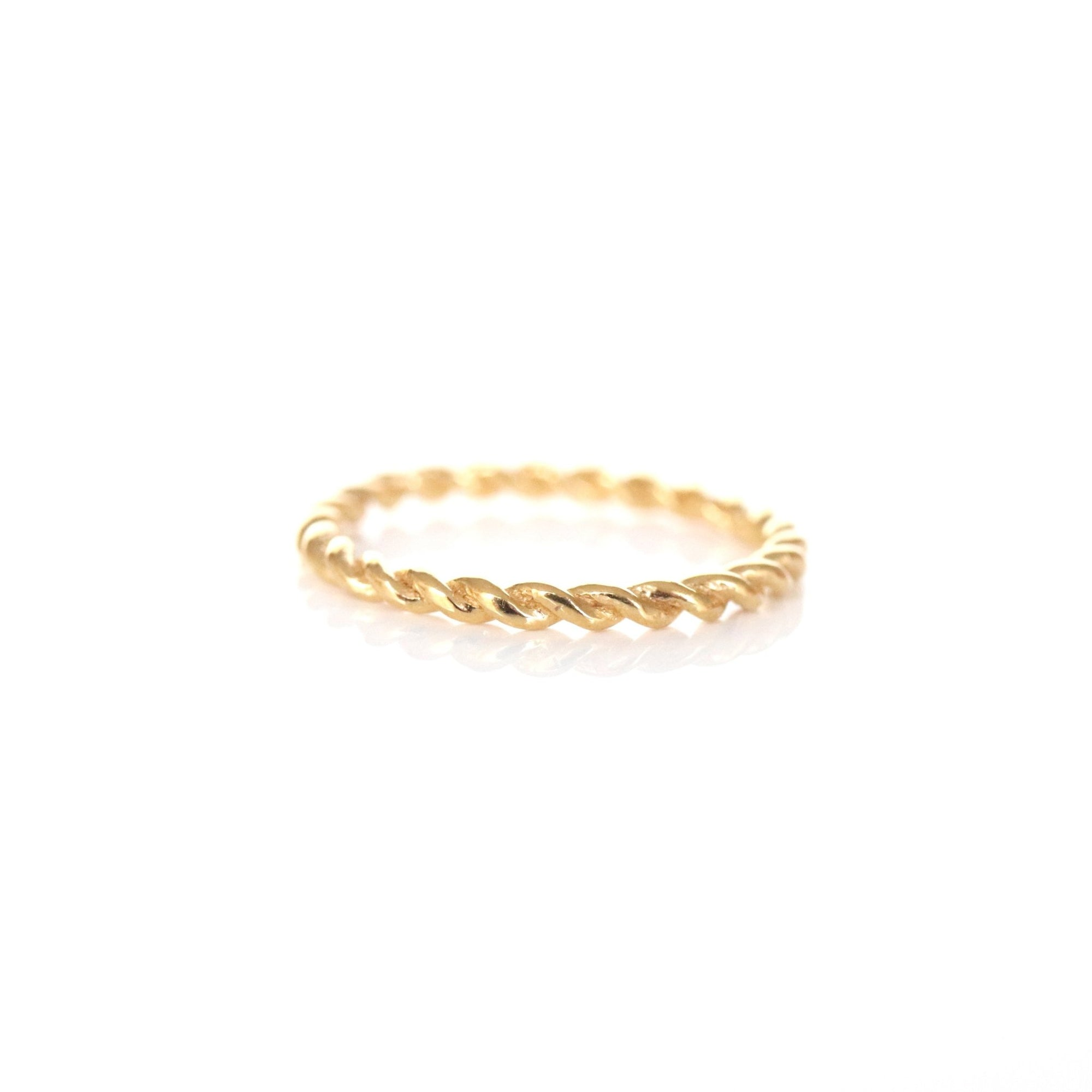 POISE THIN CABLE LINK BAND RING - GOLD - SO PRETTY CARA COTTER