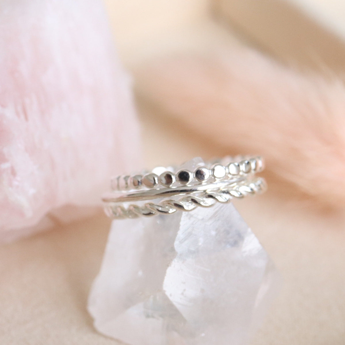 POISE THIN CABLE LINK BAND RING - SILVER - SO PRETTY CARA COTTER