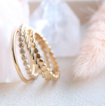 POISE THIN DISK BAND RING - GOLD - SO PRETTY CARA COTTER
