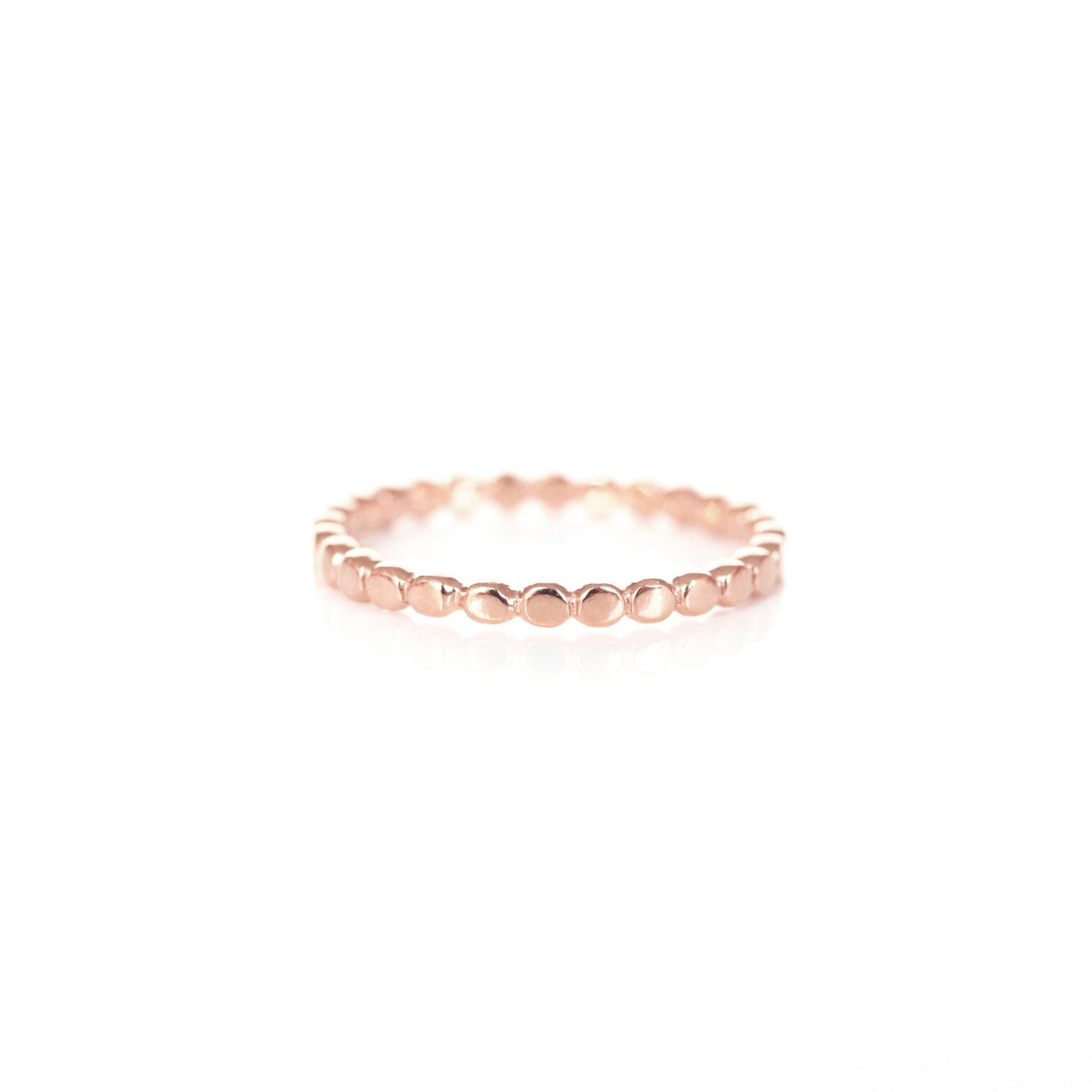 POISE THIN DISK BAND RING - ROSE GOLD - SO PRETTY CARA COTTER
