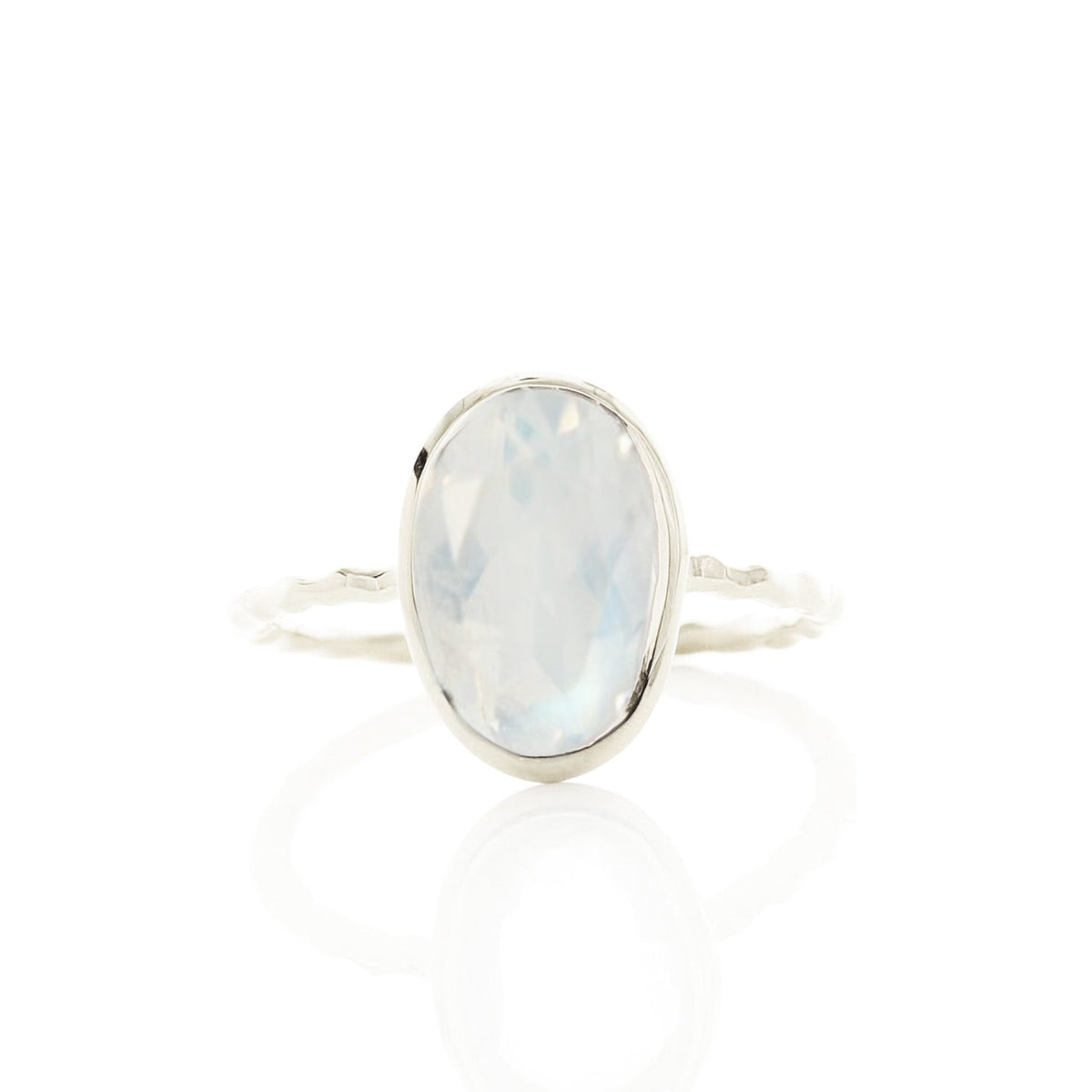 PROTECT OVAL RING - RAINBOW MOONSTONE & SILVER - SO PRETTY CARA COTTER
