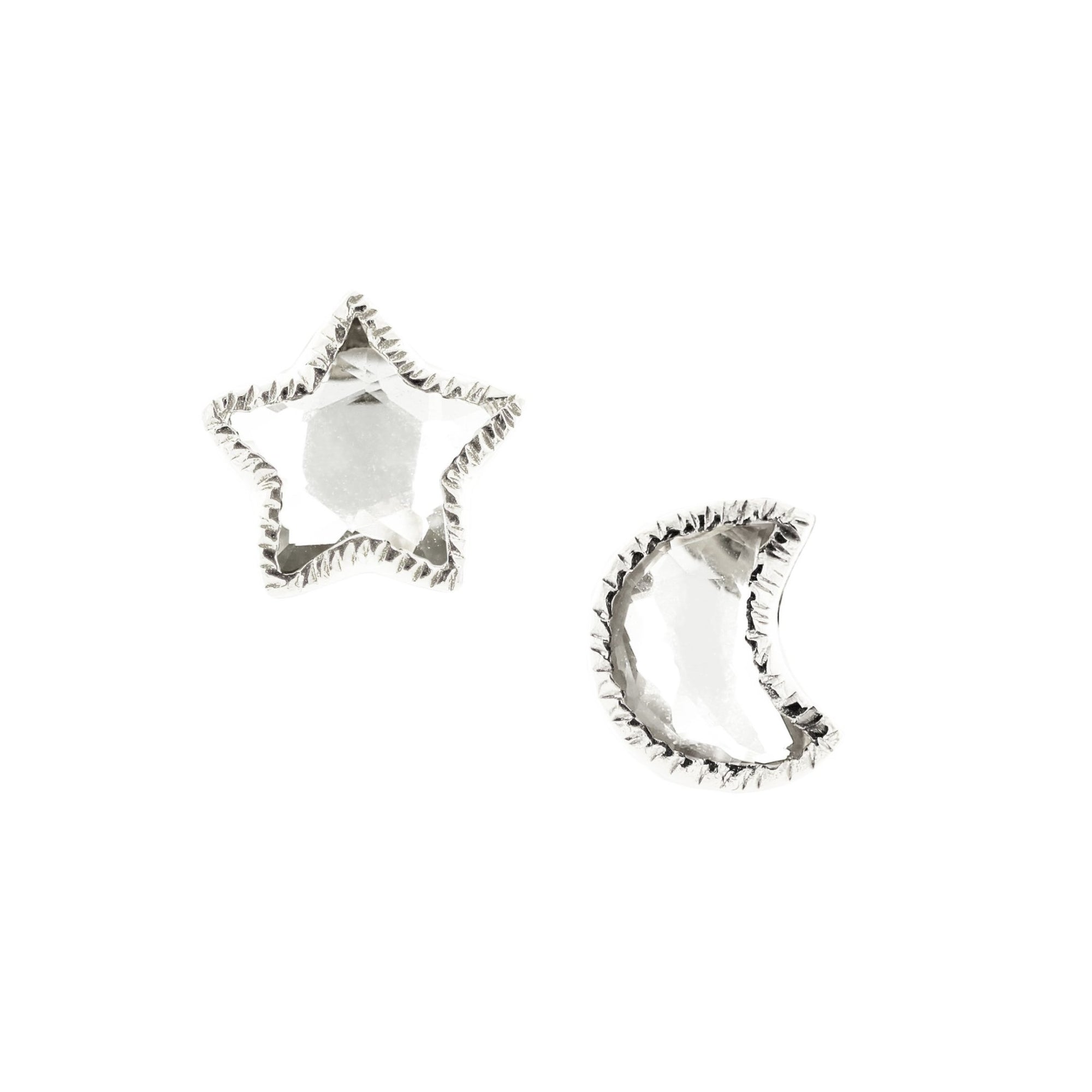 Shoot For The Stars Studs - White Topaz & Silver - SO PRETTY CARA COTTER