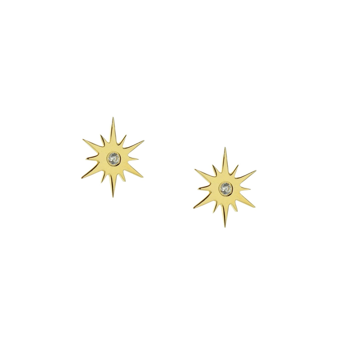 TINY BELIEVE STELLAR STUDS - CUBIC ZIRCONIA, & GOLD - SO PRETTY CARA COTTER