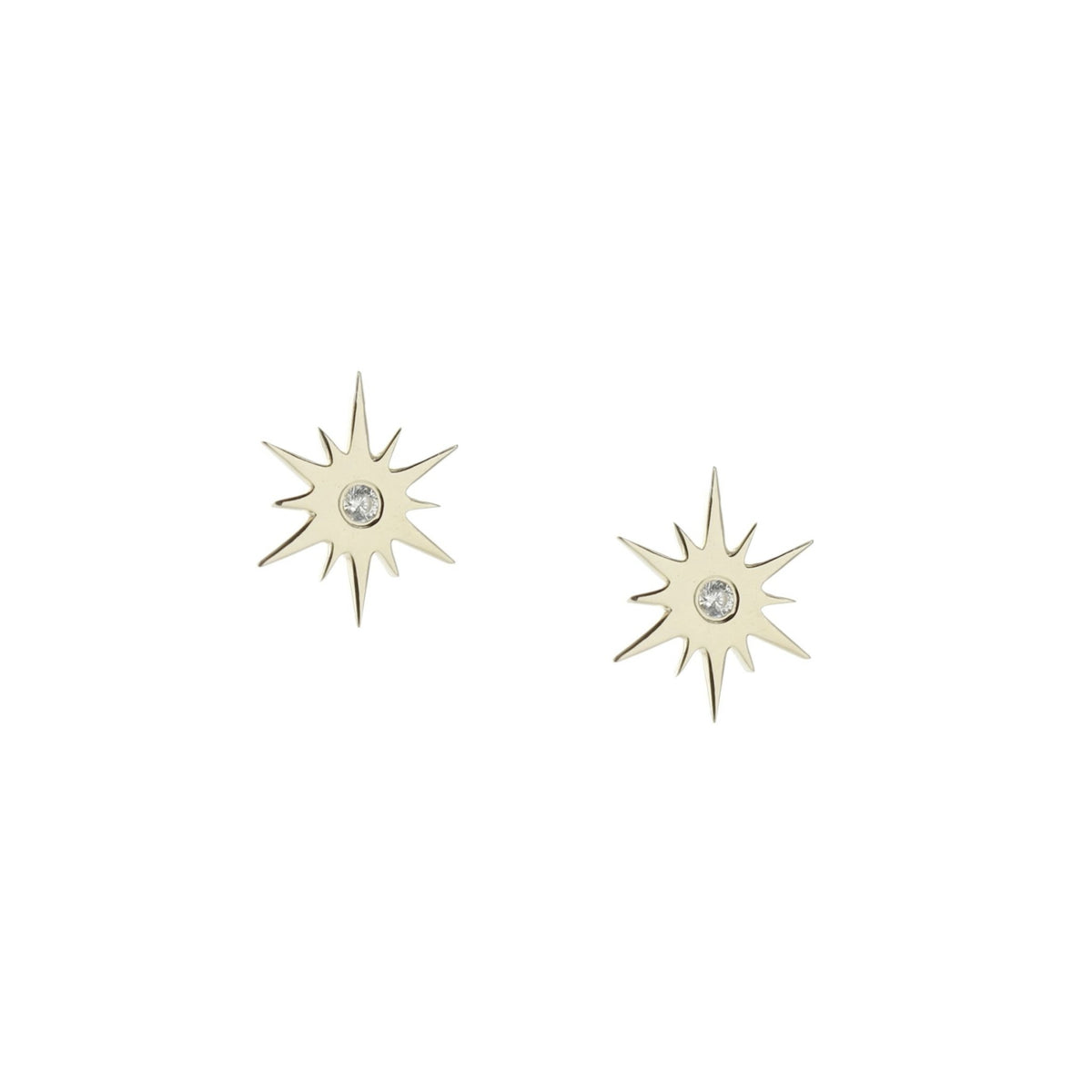 TINY BELIEVE STELLAR STUDS - CUBIC ZIRCONIA, & SILVER - SO PRETTY CARA COTTER