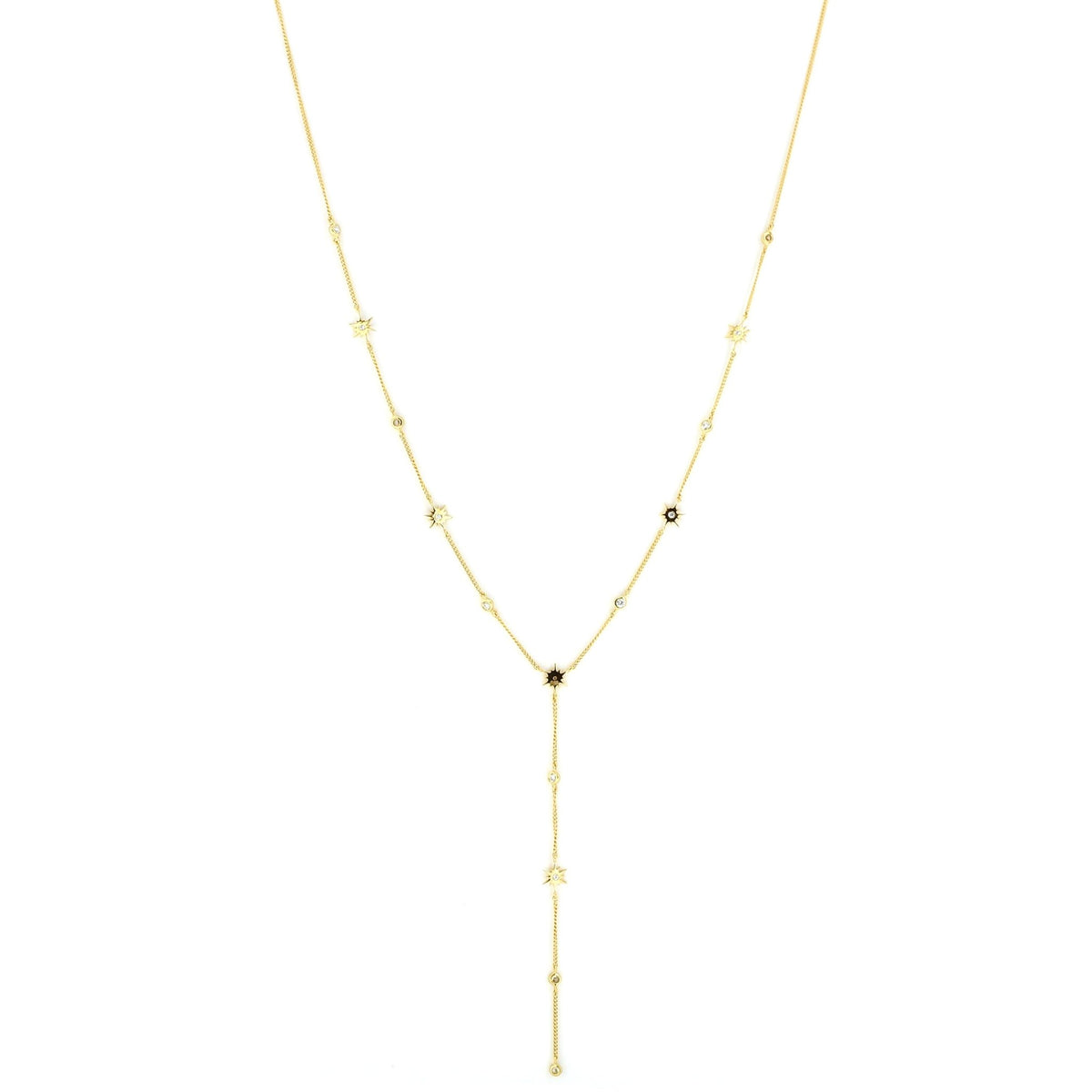 TINY BELIEVE Y NECKLACE - CUBIC ZIRCONIA & GOLD - SO PRETTY CARA COTTER