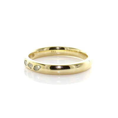 True Sliced Diamond Band Ring Gold - SO PRETTY CARA COTTER