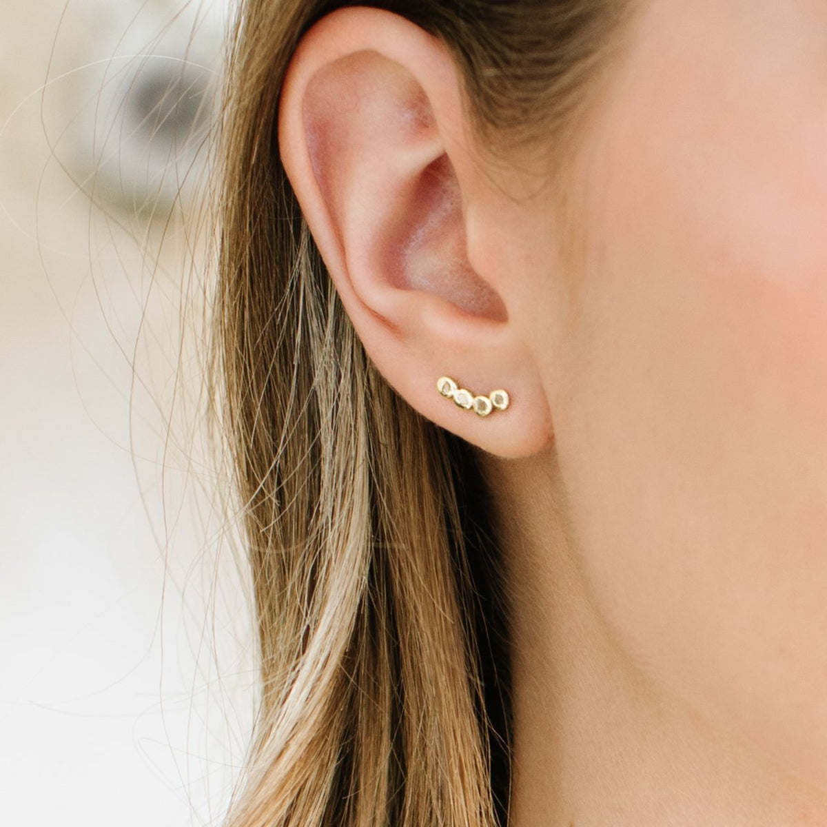 True Sliced Diamond Ear Climbers Gold - SO PRETTY CARA COTTER