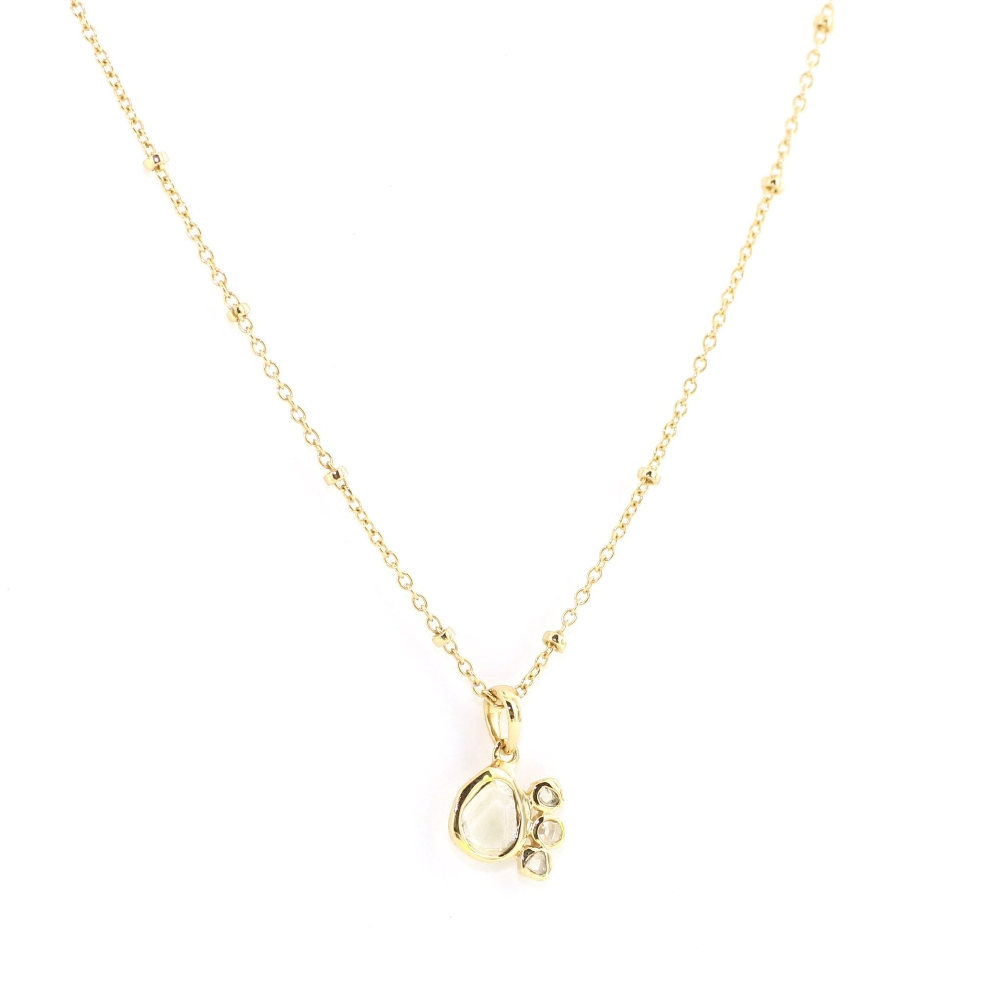 True Sliced Diamond Pendant Necklace Gold - SO PRETTY CARA COTTER