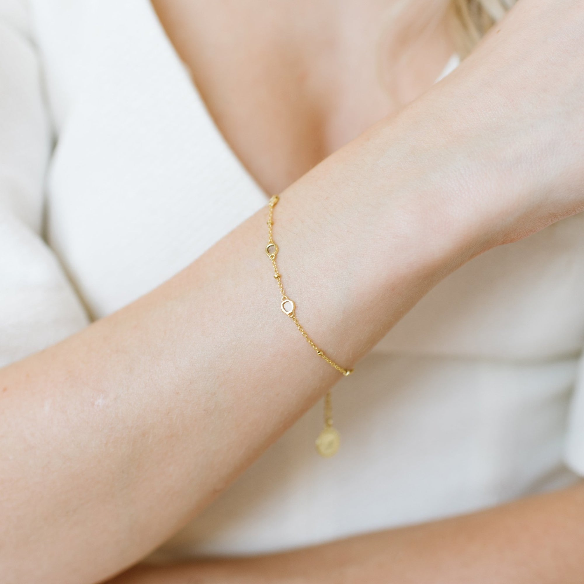 True Sliced Diamond Trio Bracelet Gold - SO PRETTY CARA COTTER