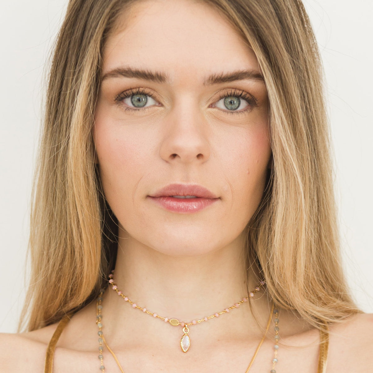 TRUST ICON - RAINBOW MOONSTONE & GOLD - SO PRETTY CARA COTTER