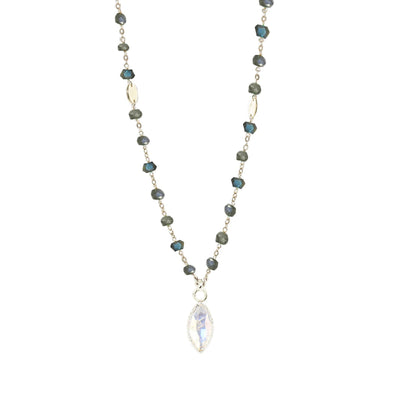 TRUST ICON - RAINBOW MOONSTONE & SILVER - SO PRETTY CARA COTTER