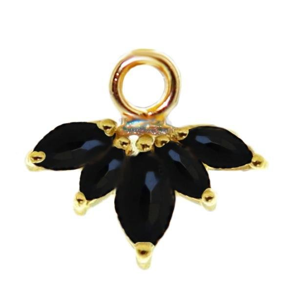 UNITY CROWN ICON - BLACK ONYX & GOLD - SO PRETTY CARA COTTER