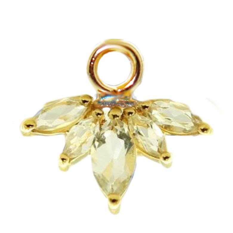 UNITY CROWN ICON - WHITE TOPAZ & GOLD - SO PRETTY CARA COTTER