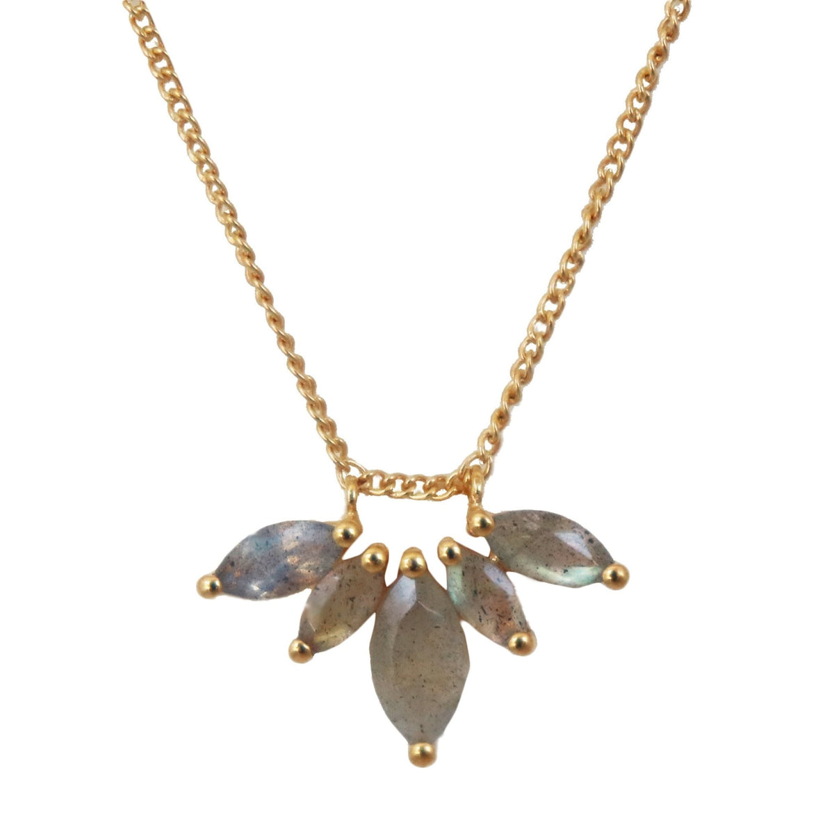 UNITY CROWN NECKLACE - LABRADORITE & GOLD - SO PRETTY CARA COTTER