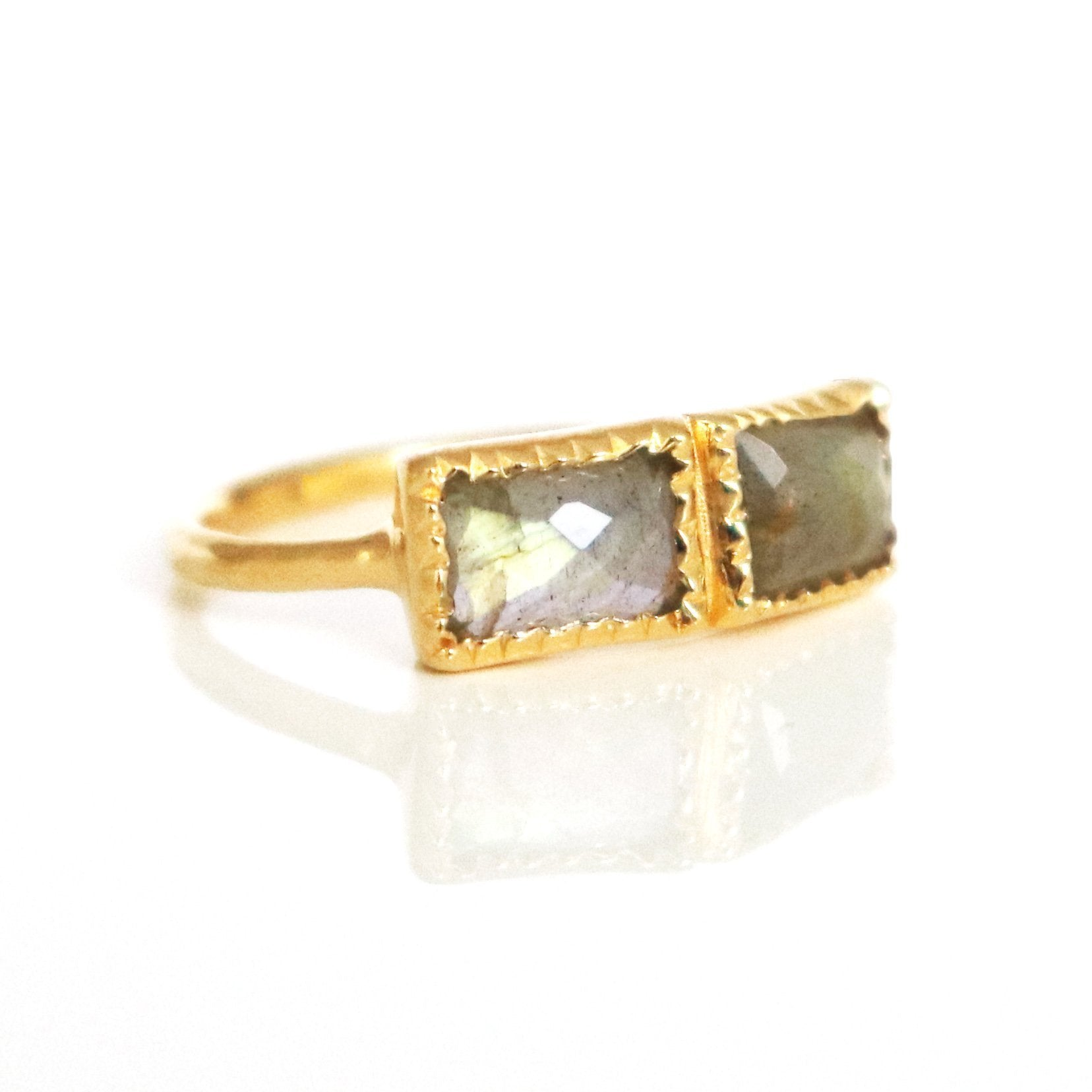 UNITY RING LABRADORITE & GOLD - SO PRETTY CARA COTTER