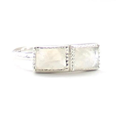 UNITY RING RAINBOW MOONSTONE & SILVER - SO PRETTY CARA COTTER