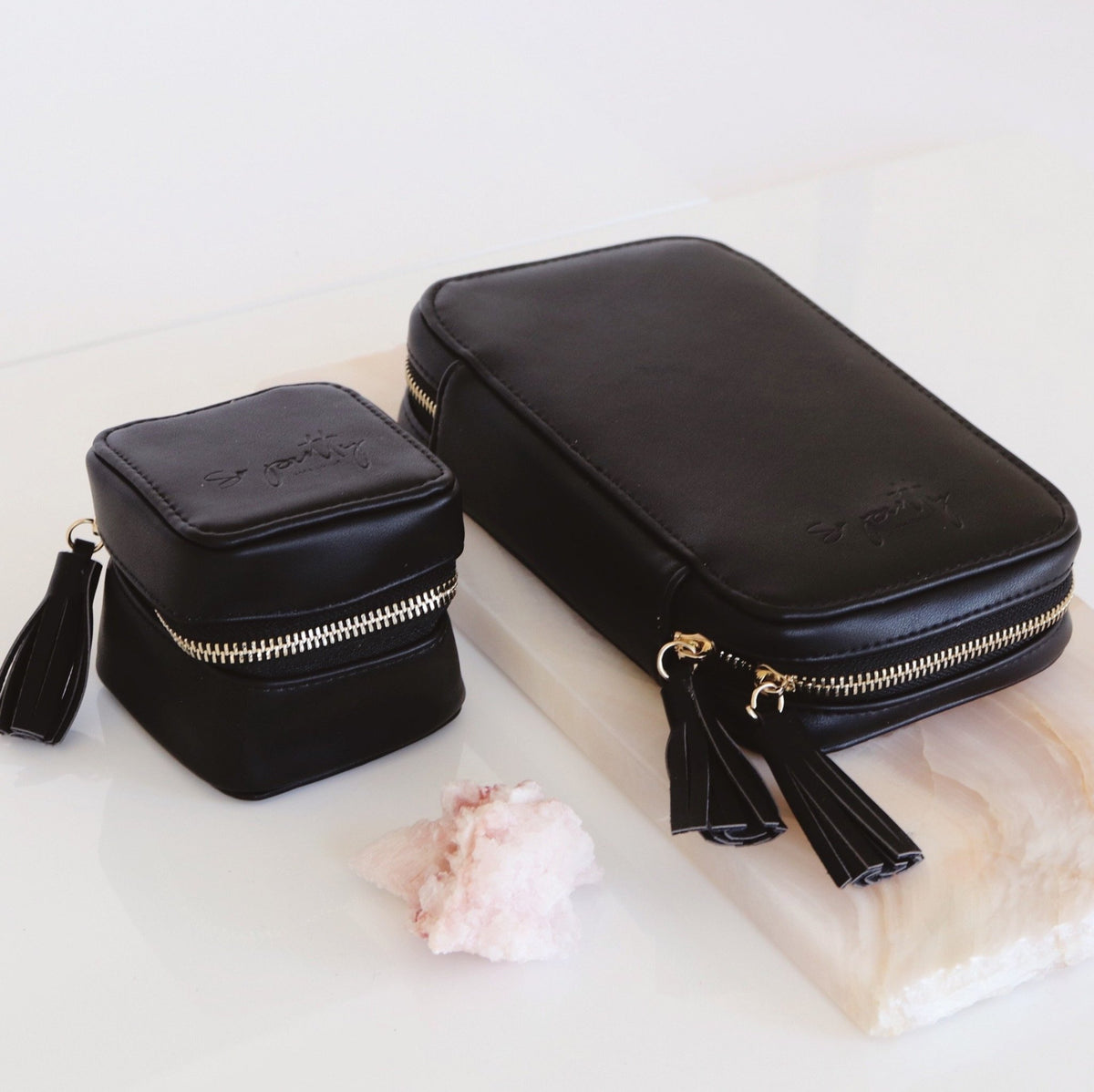 Wanderlust Daily Jewelry Bag - Black - SO PRETTY CARA COTTER