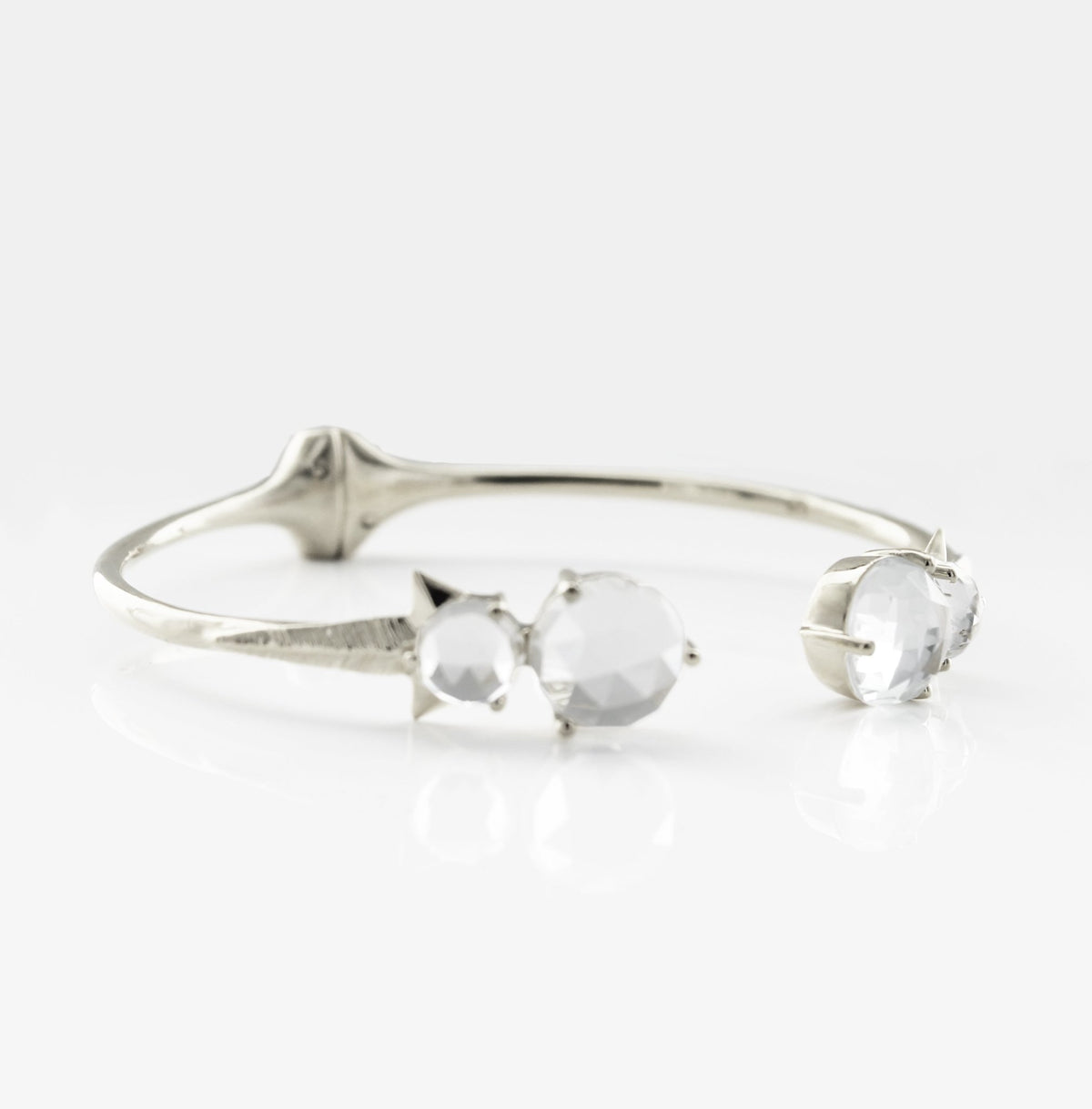 WONDER FALLING STAR CUFF - WHITE TOPAZ & SILVER - SO PRETTY CARA COTTER