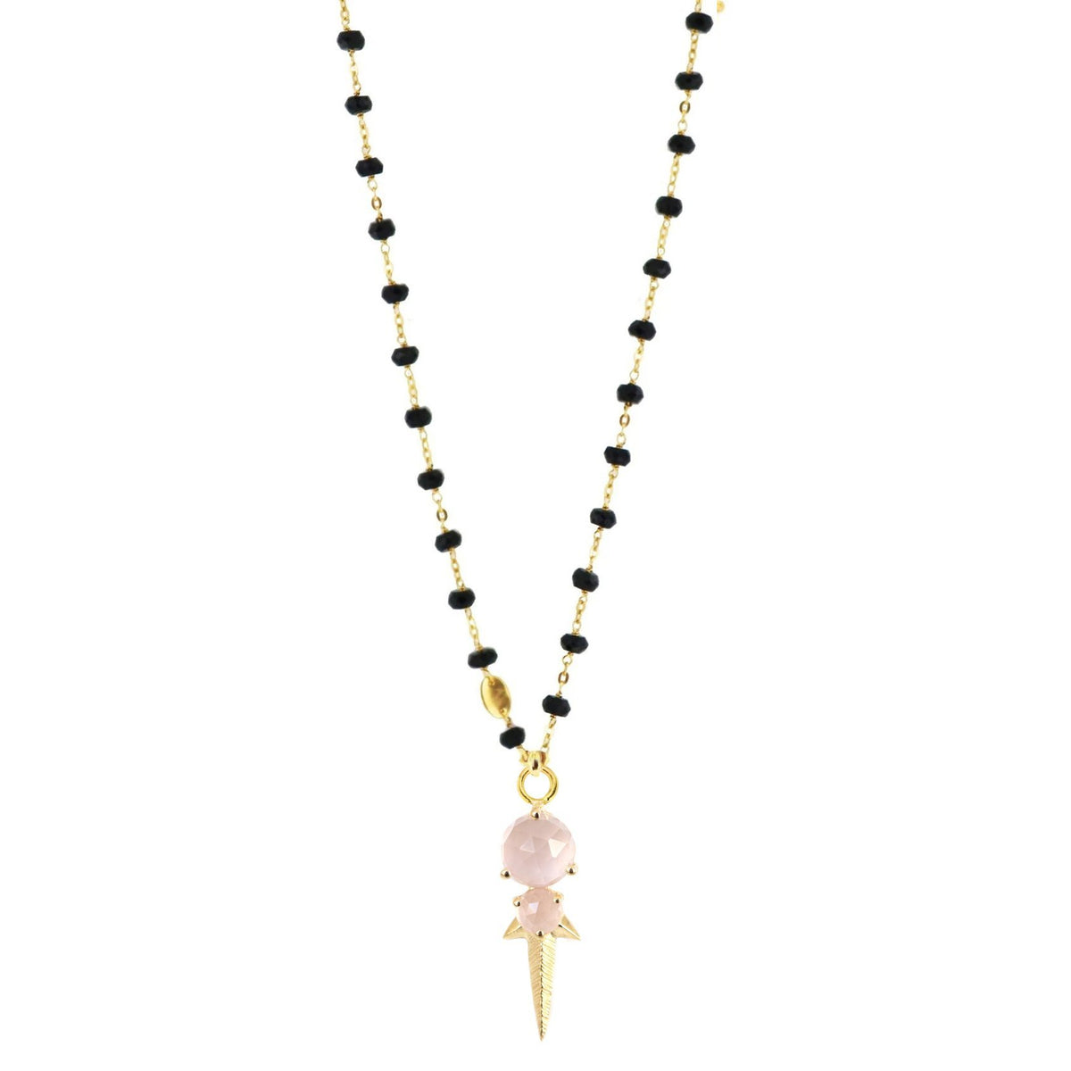 WONDER FALLING STAR ICON - PINK QUARTZ & GOLD - SO PRETTY CARA COTTER