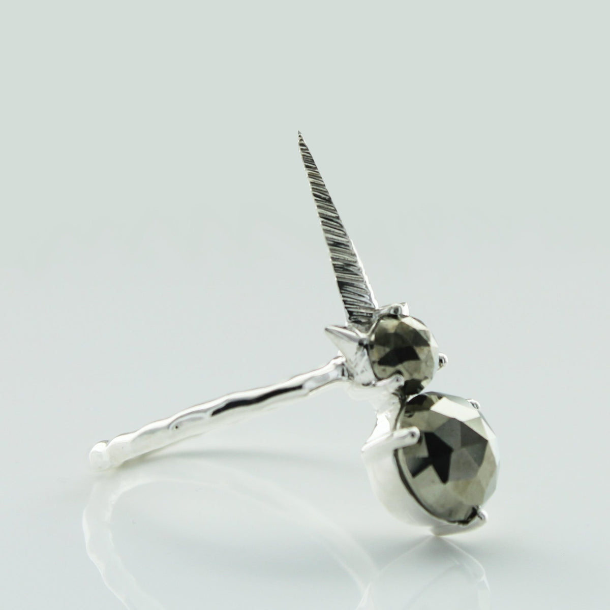 WONDER FALLING STAR RING - METALLIC PYRITE & SILVER - SO PRETTY CARA COTTER
