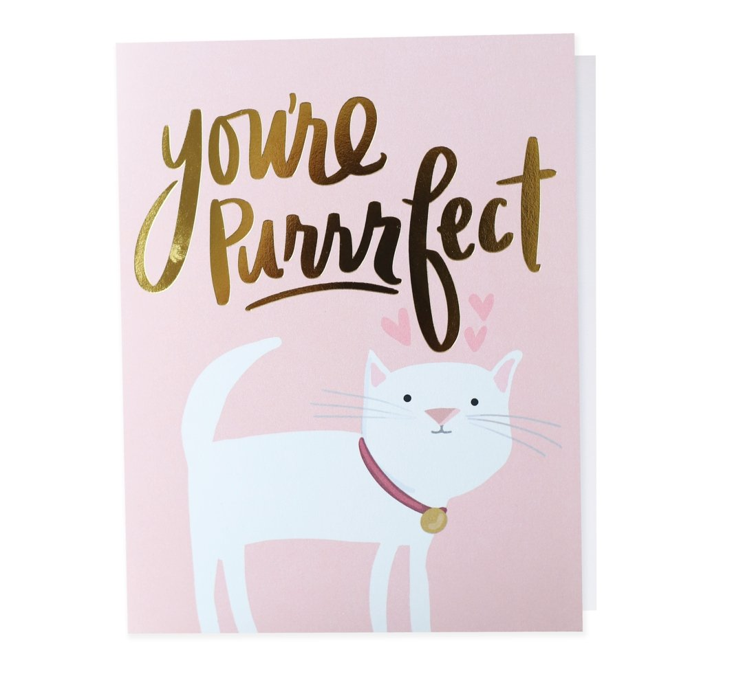 You're Purrrrfect, Greeting Card - SO PRETTY CARA COTTER