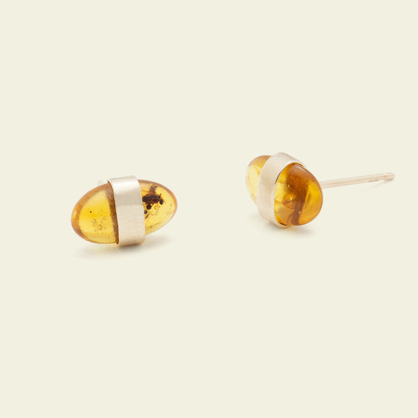 Prehistoric Amber Earrings