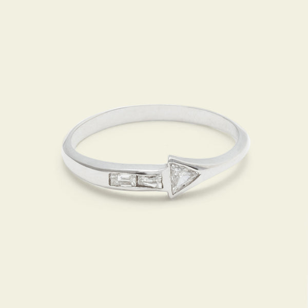 Journey Ring (14k White Gold)