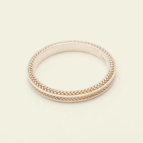 Chevron Band (14k Yellow Gold)