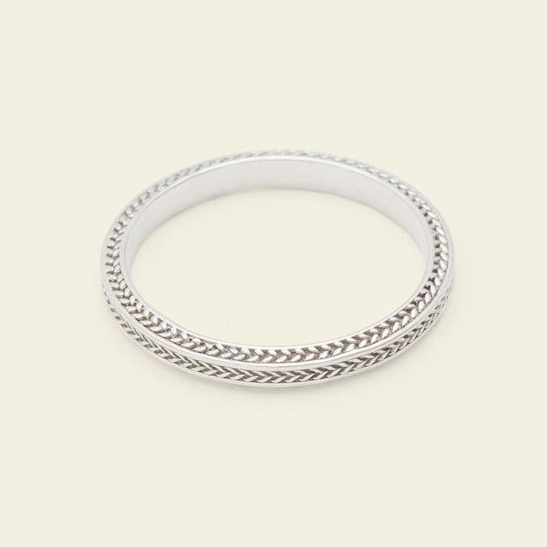Chevron Band (14k White Gold)